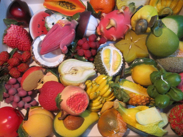 フルーツを立体印刷