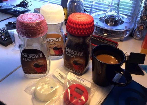 3Dプリントのコーヒーキャップ
