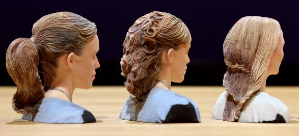 3D印刷によるヘアスタイル