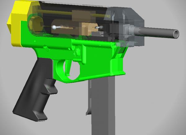 3Dプリンターによる銃器
