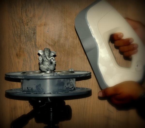 3Dプリンターで銅像