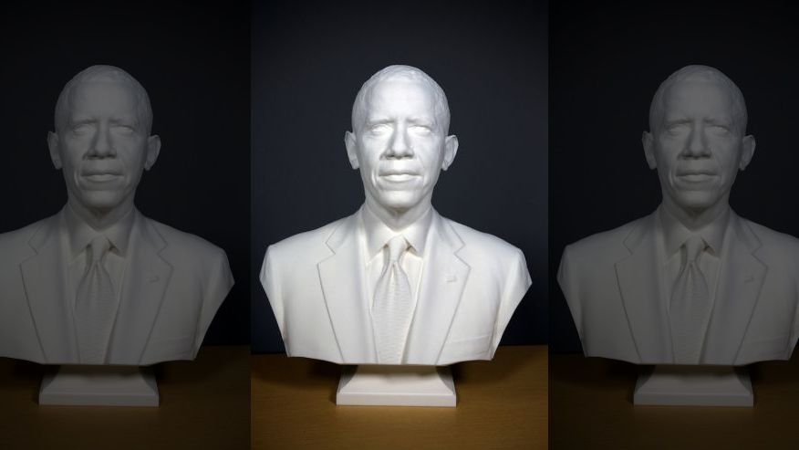 3Dプリントによるオバマ大統領の、よりリアルな胸像制作技術
