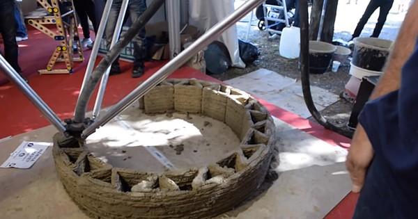 png.3Dプリンターによる泥の家