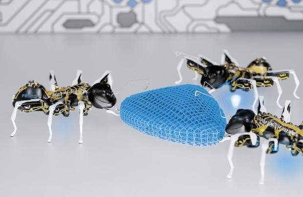 3Dプリントされたワイヤレスのアリロボットが個々に社会的行動をする