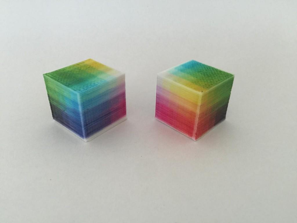 レイヤー着色3Dプリント