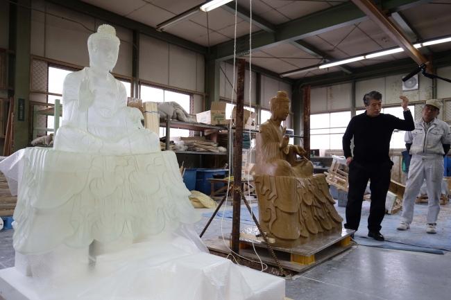 法隆寺釈迦三尊像 3Dプリント