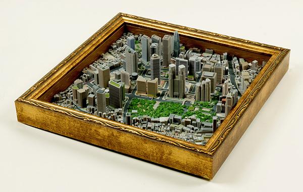 3D Print Maps 東京・新宿都庁周辺